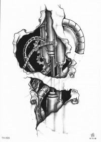 Татуировка шестеренки: значение и смысл   280x200