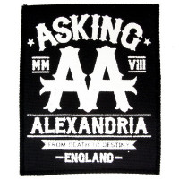 Нашивка Asking Alexandria. НШ342