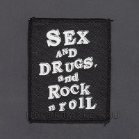 Нашивка Sex and Drugs and Rock'n'Roll. НШ256