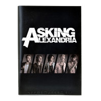 Тетрадь Asking Alexandria (30 листов, клетка) nb007